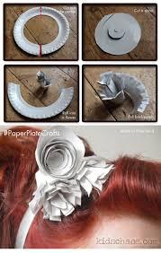گل سر با بشقاب یکبار مصرف