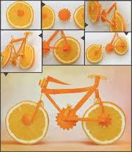 آموزش پرتقال بشکل دوچرخه