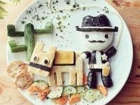 ایده هایی برای تزئین غذای کودکان
