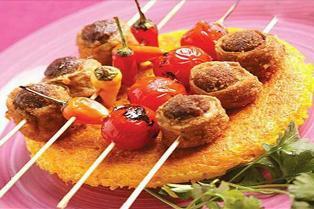 کباب لذیذ با ترکیب گوشت و بادمجان
