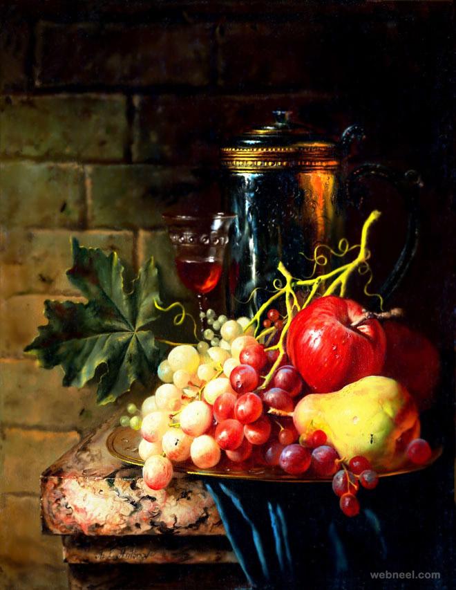 آموزش مدل نقاشی از میوه ها