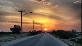 این جاده زیبا در کیش را حتما یکبار ببینید