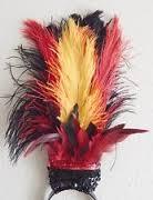 ایده هایی برای کلاه و تل مو با پر شتر مرغ