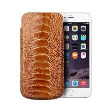 کیف موبایل و جاکلیدی با چرم شتر مرغ