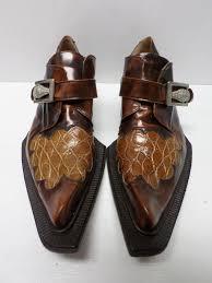 کفش مردانه از جنس چرم شتر مرغ