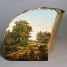 آموزش ساخت تابلو نقاشی با کنده های چوب