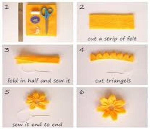 آموزش گلسازی با نمد بصورت تصویری و قدم به قدم