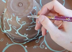 آموزش ساخت جاقلمی رومیزی با گلدان