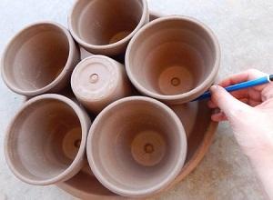 آموزش ساخت جاقلمی رومیزی با گلدان کوچک