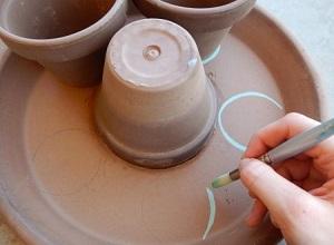 آموزش ساخت جامدادی رومیزی با گلدان