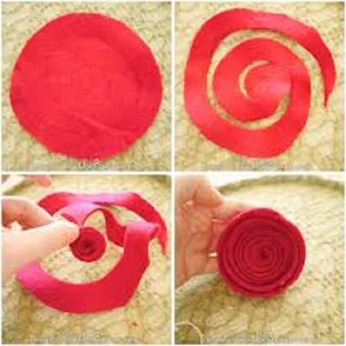 آموزش ساخت گل رز ساده با نمد