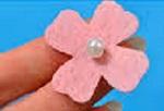 آموزش تهیه شکوفه نمدی با تزئین مروارید
