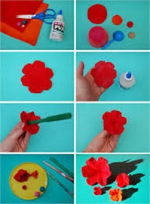 آموزش تهیه گل زیبا با شش گلبرگ با نمد